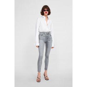 Zara Light Grey high waist jeans